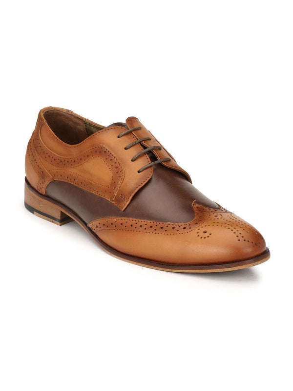 Play-3 8101 Tan + Brown Leather Shoes