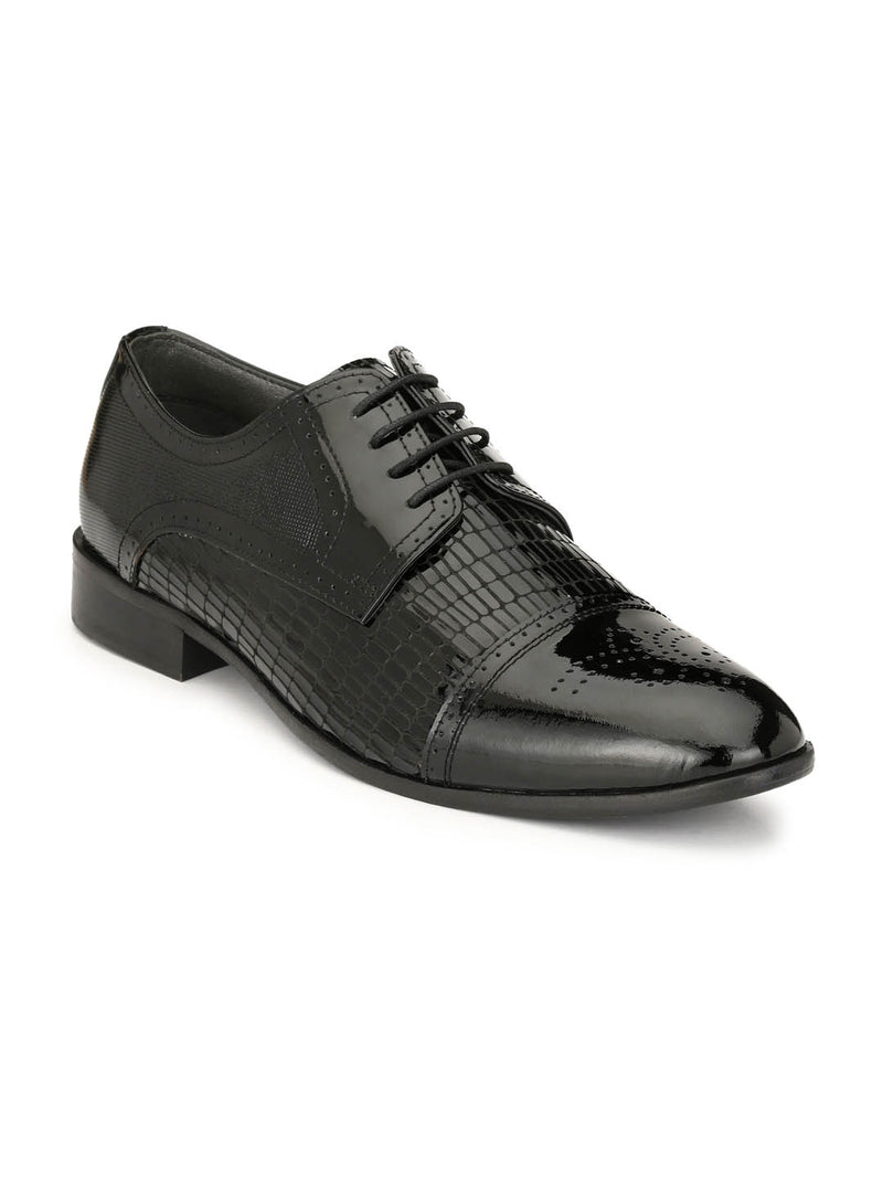 Play-3 8102 Black Leather Shoes
