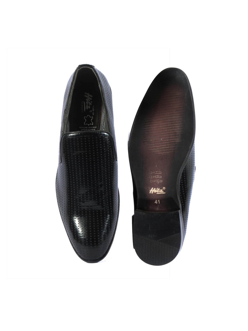 Play-3 8107 Black Leather Shoes