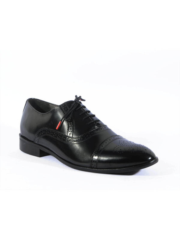 Play-3 8108 Black Leather Shoes