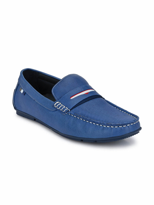 Foster - 8301 Blue Leather Loafers