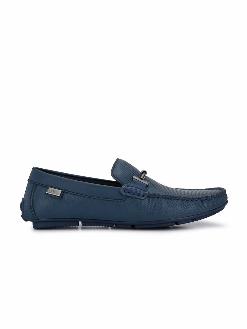 Foster - 8302 Blue Leather Loafers