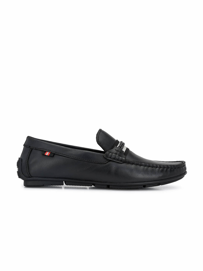 Foster - 8303 Black Leather Loafers