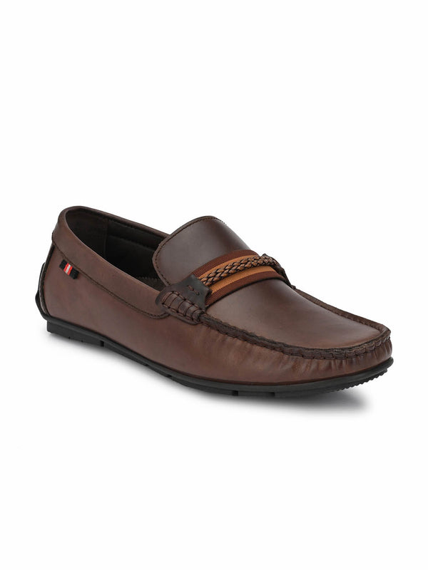 Foster - 8303 Brown Leather Loafers