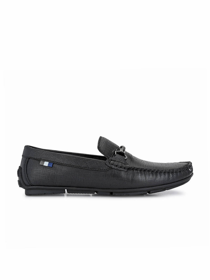 Foster - 8304 Black Leather Loafers
