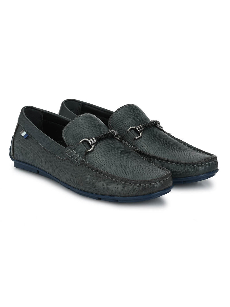 Foster - 8304 Blue Leather Loafers