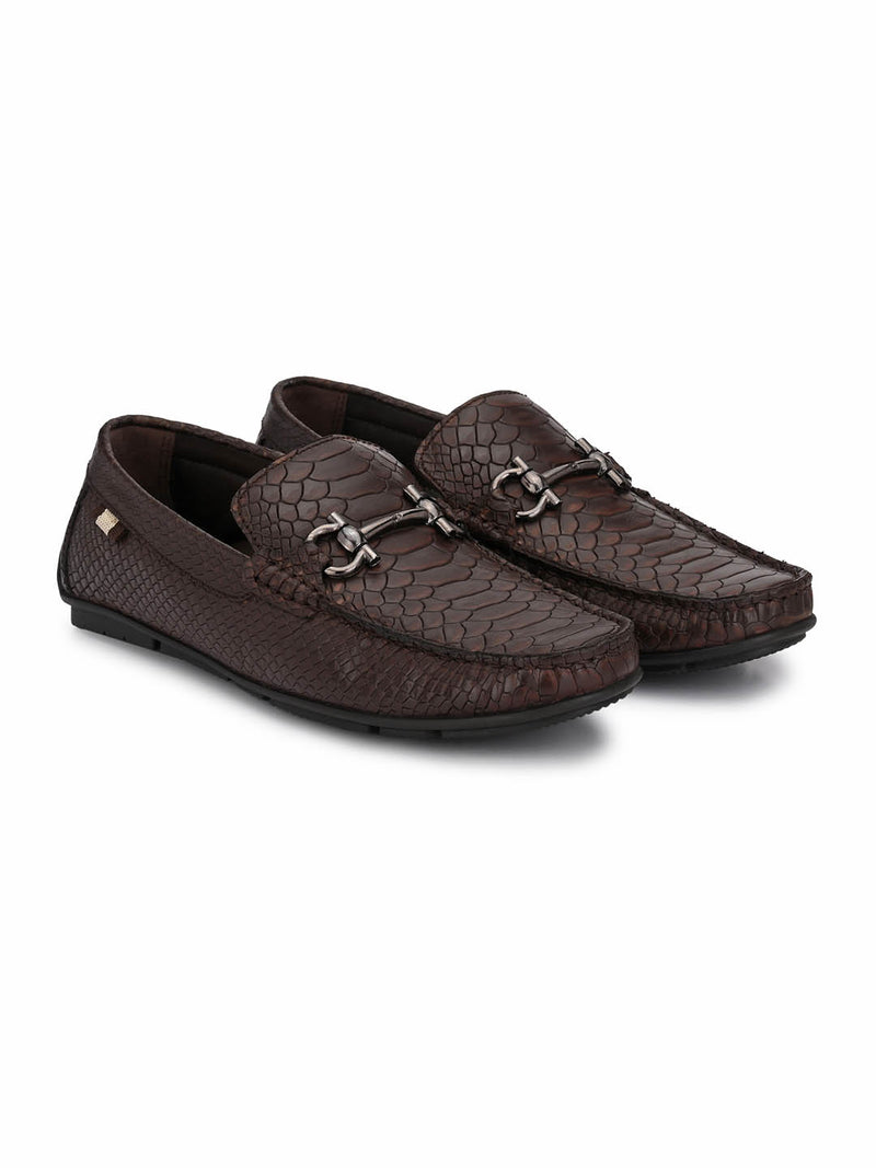 Men Brown Leather Formal Loafers