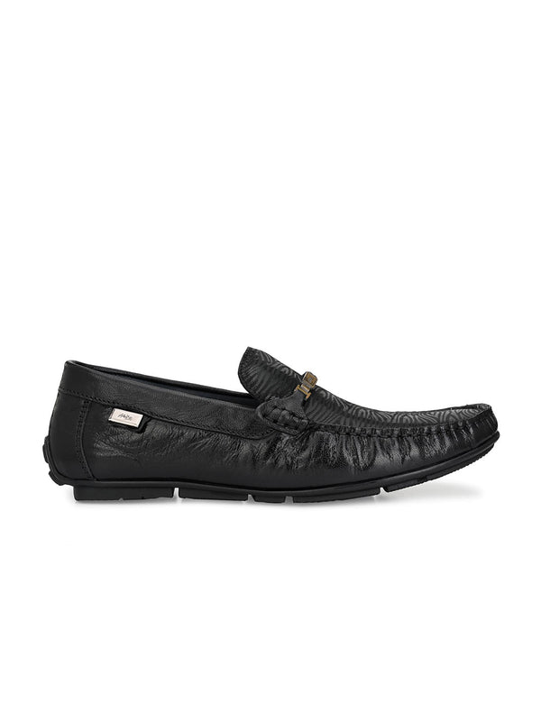 Hitz Doko Black Loafers For Men