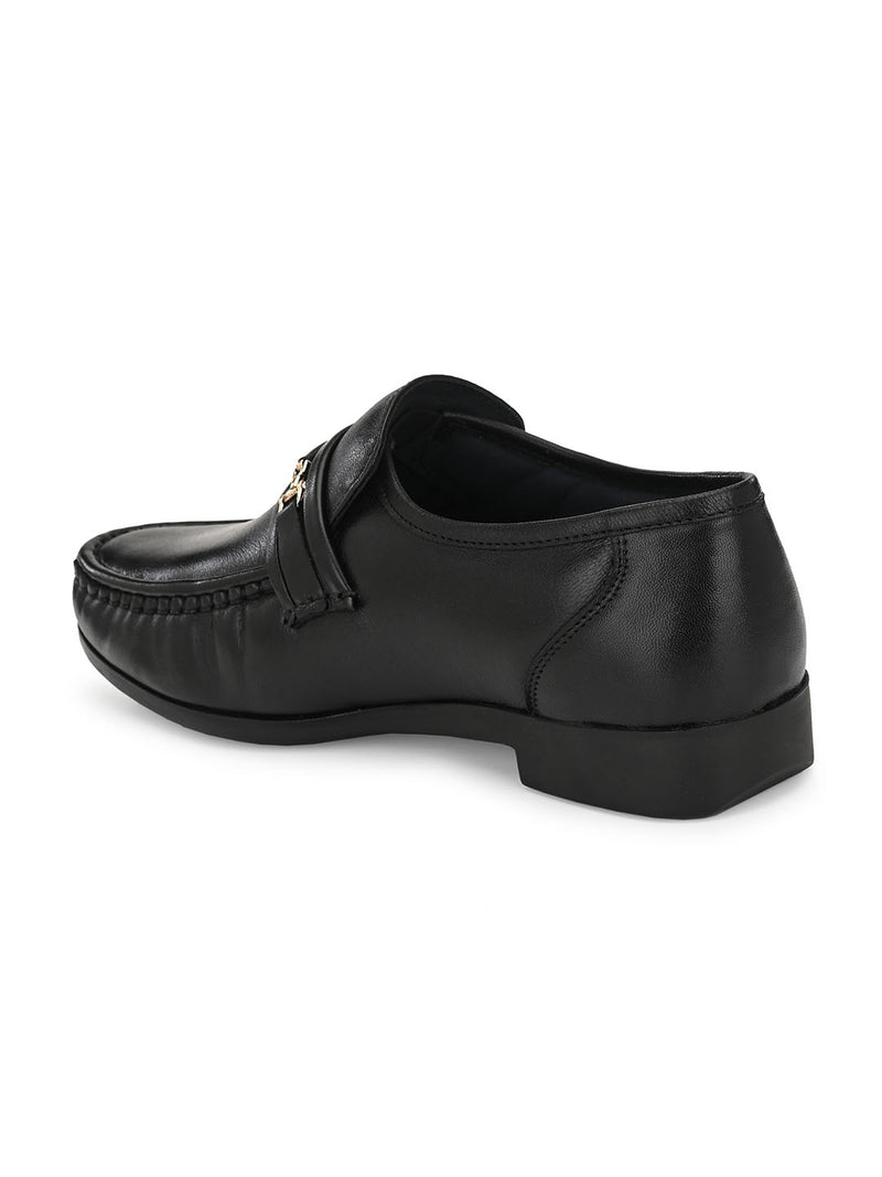 Hitz Almaro Black Formal Shoes For Men