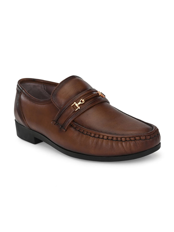 Hitz Almaro Brown Formal Shoes For Men