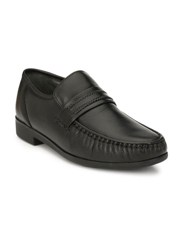 Turmuk - 837 Black Comfort Leather Shoes