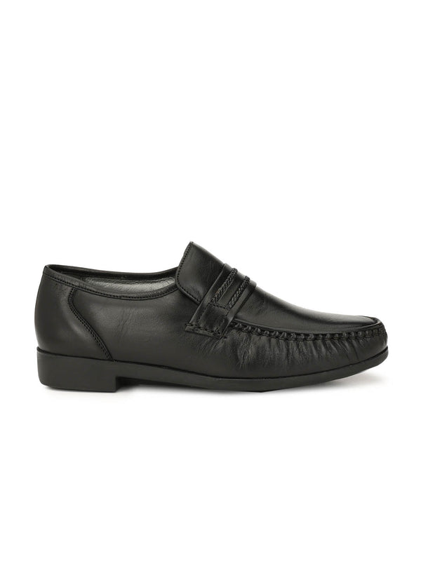 Men Black Comfort Leather Shoes