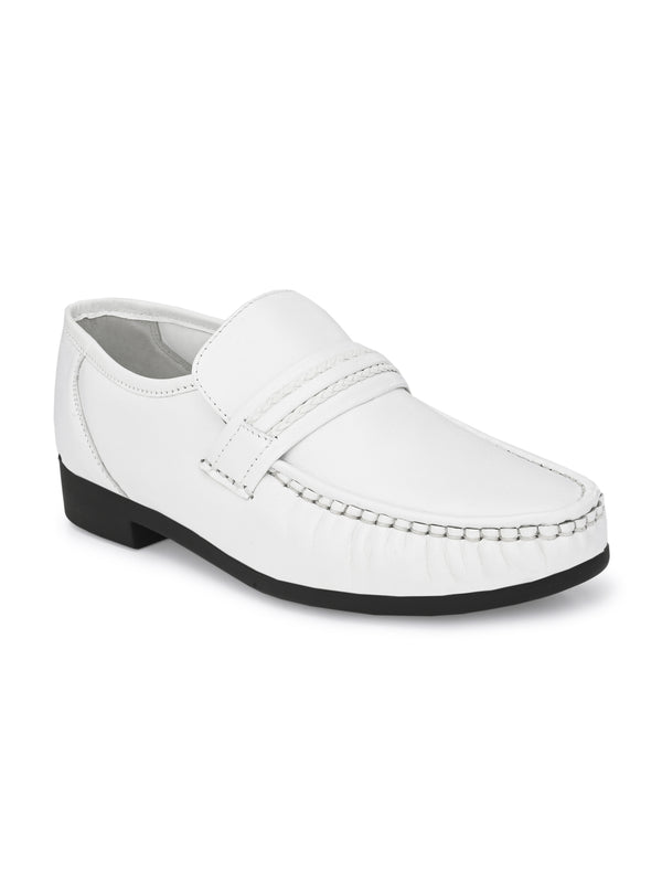 Hitz Men White Formal Comfort Shoes