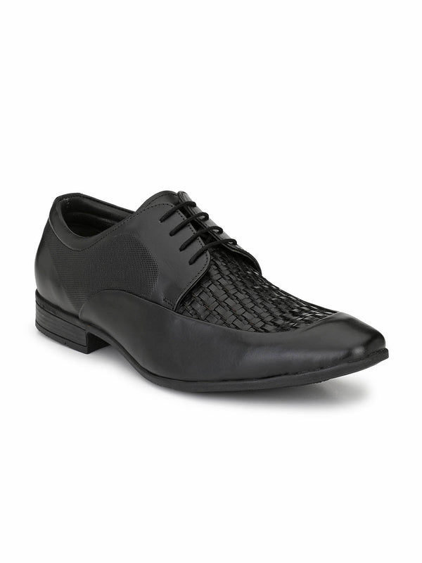 Play-2 8408 Black Leather Shoes