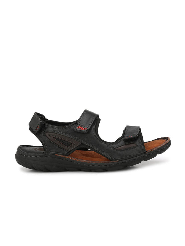 Router - 8501 Black + Brown Leather Sandals