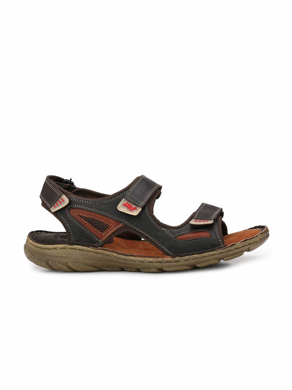 Router - 8501 Brown + Tan Leather Sandals