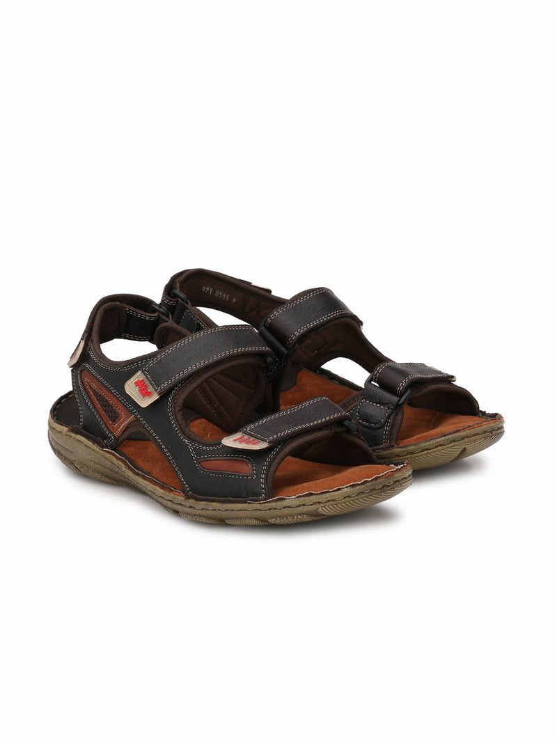 Men Brown Leather comfort Floaters