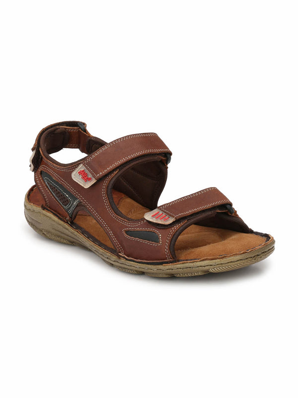Men Tan Leather comfort Floaters