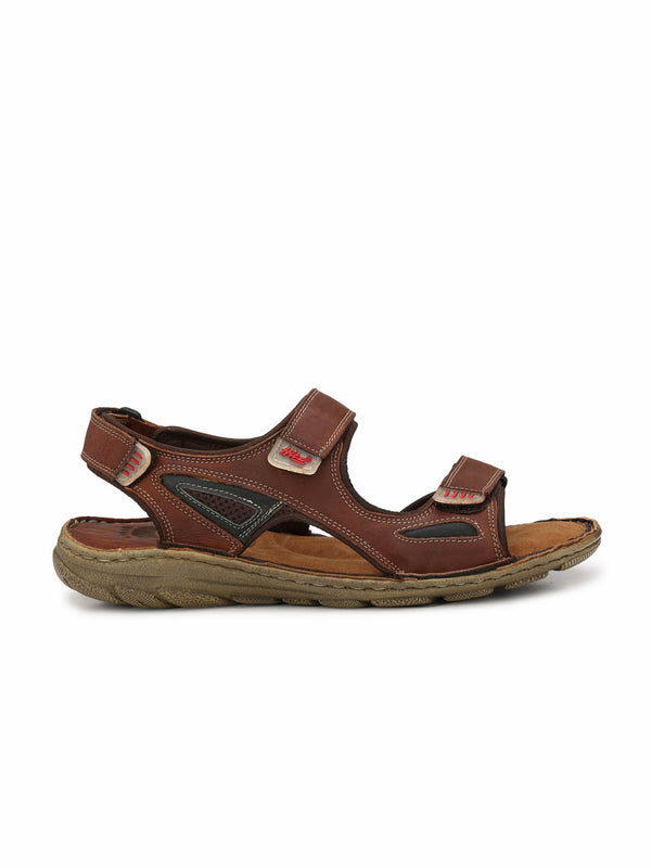 Router - 8501 Tan + Black Leather Sandals