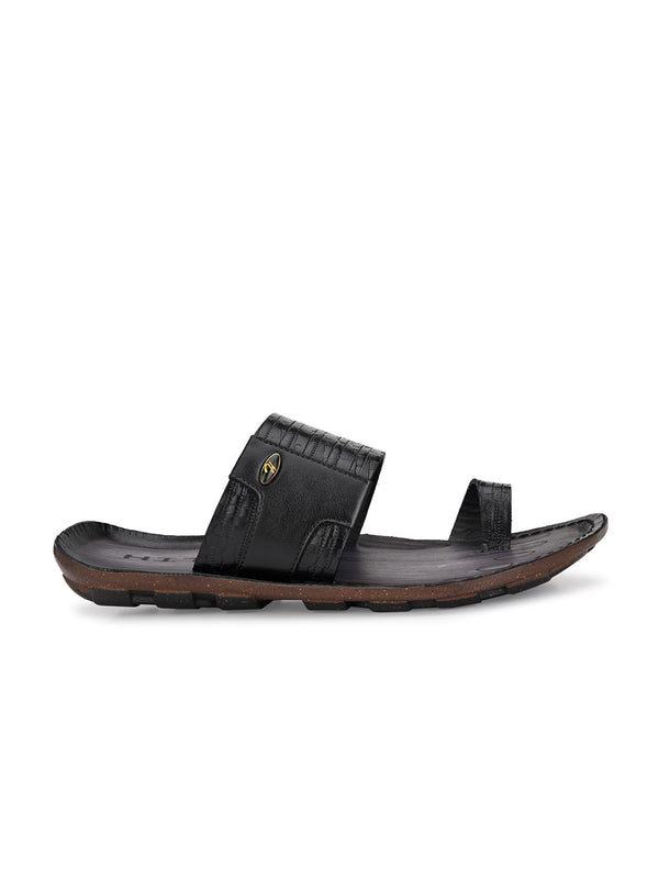 Hitz Hulia Black Slippers For Men