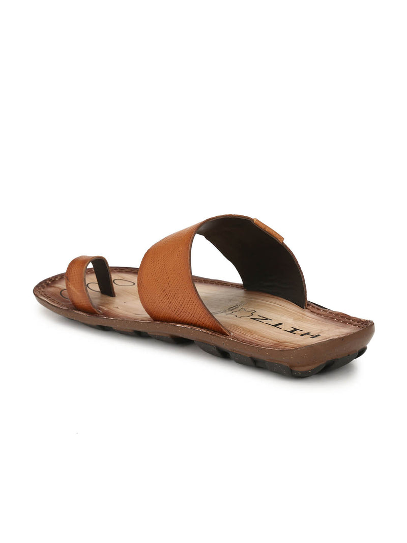 Hitz Tan Ethnic Slip-on Slippers