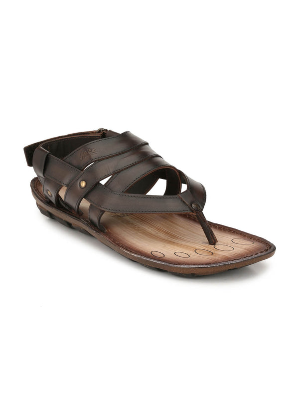 Ben - 9114 Brown Leather Sandals