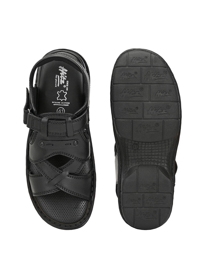 Hitz Leonardo Black Sandals For Men