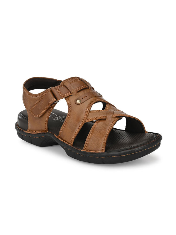 Hitz Leonardo Tan Sandals For Men