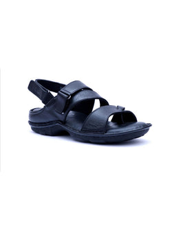 New Dragon - 9218 Black Leather Sandals
