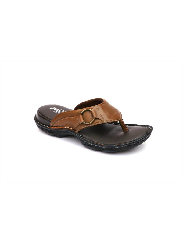 New Dragon - 9228 Brown Leather Slippers
