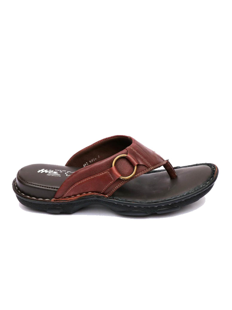 Men Cherry Leather Comfort Cushioned Slippers