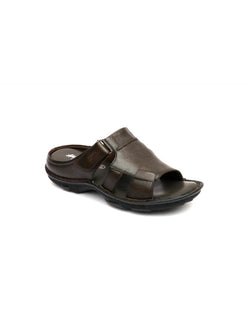 New Dragon - 9233 Brown Leather Slippers