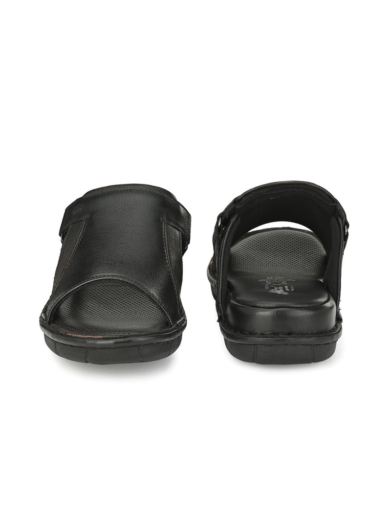 HITZ Slava Black+Brown Sandals For Men