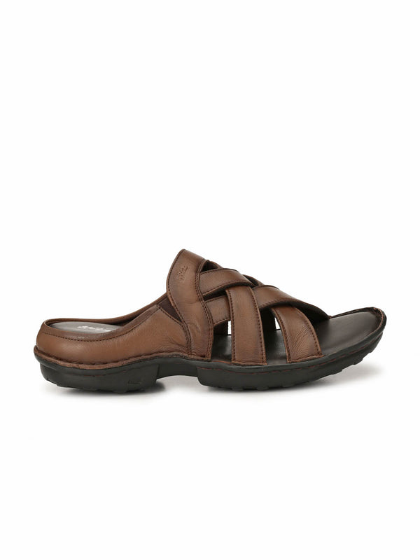 Dragon - 9295 Tan Leather Slippers