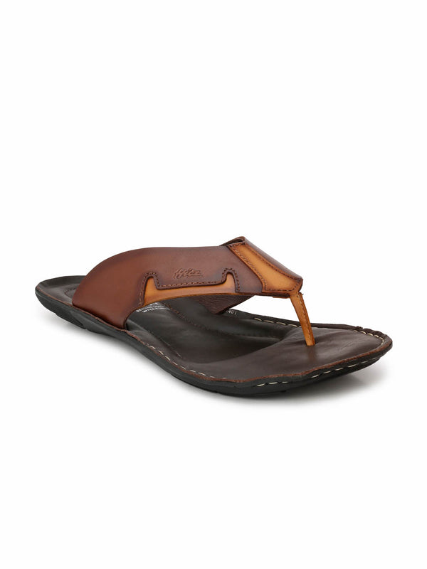 Men Brown Tan Light weight daily wear Slippers
