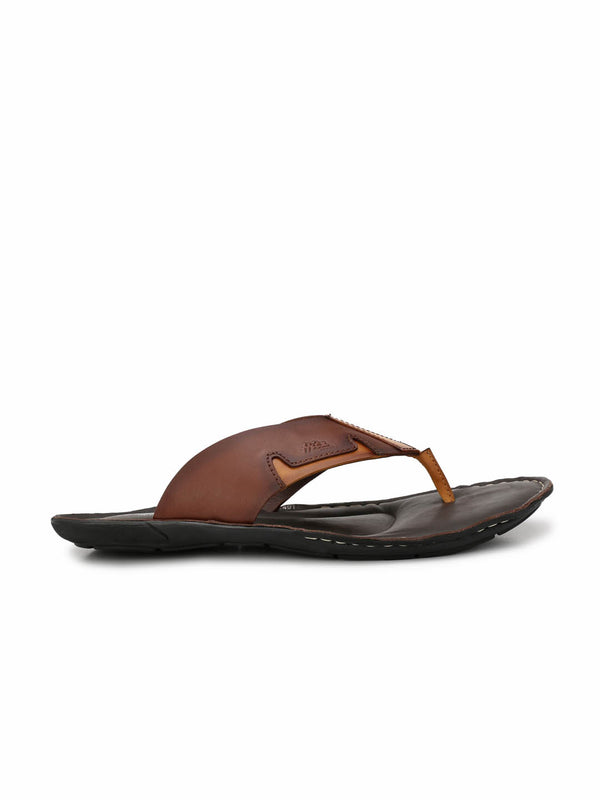 Nike - 9401 Brown + Tan Leather Slippers