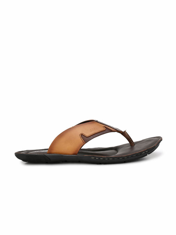 Nike - 9401 Tan + Brown Leather Slippers