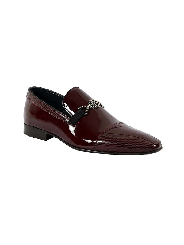 Franco Gabbani Patent Leather Burgundy Dress Shoe By HITZ