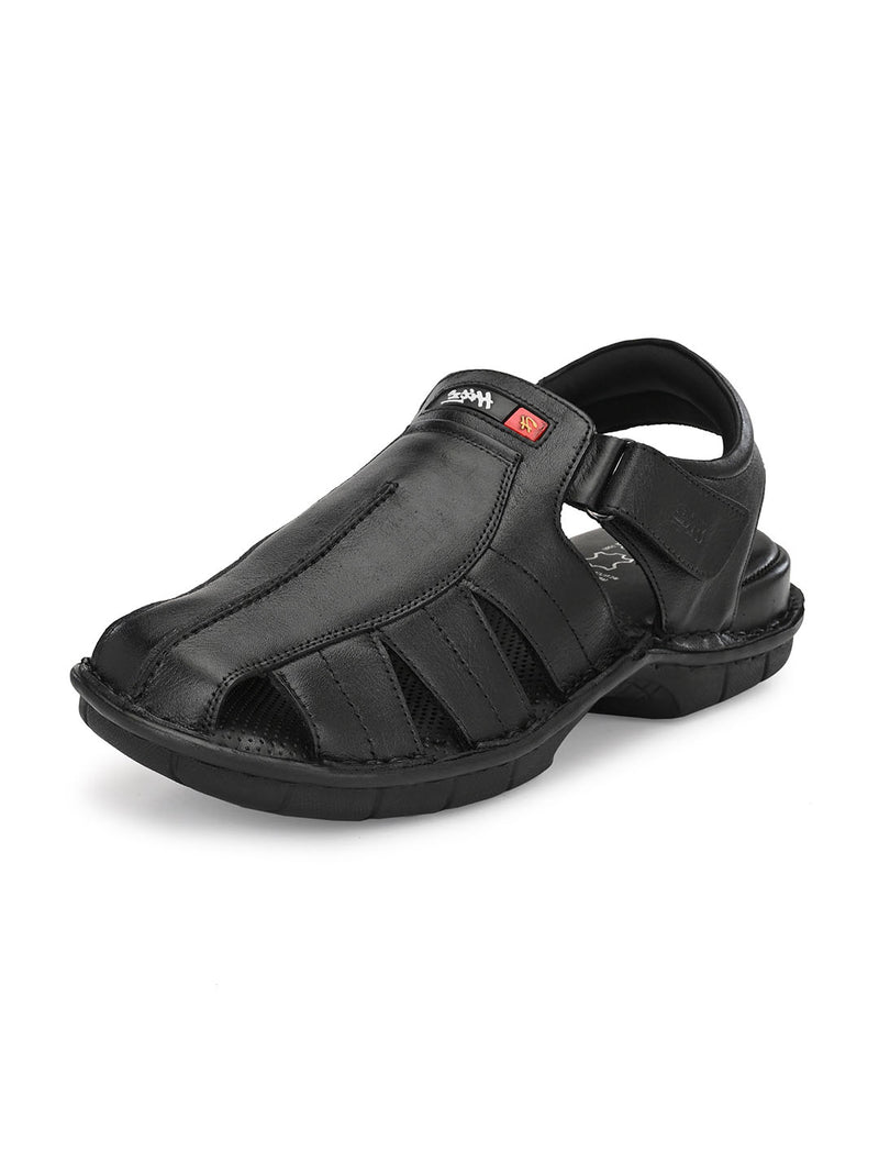 Hitz Antonio Black Sandals For Men