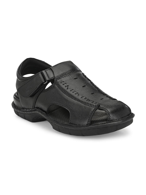 Hitz Angelo Black Sandals For Men