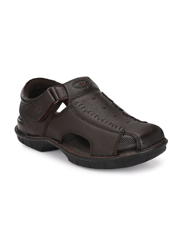 Hitz Angelo Brown Sandals For Men