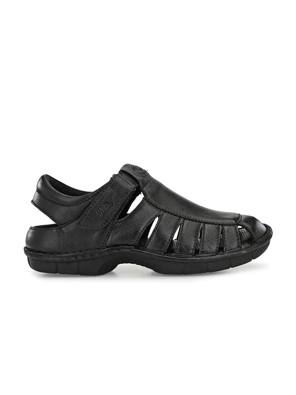 Hitz Mario Black Sandals For Men