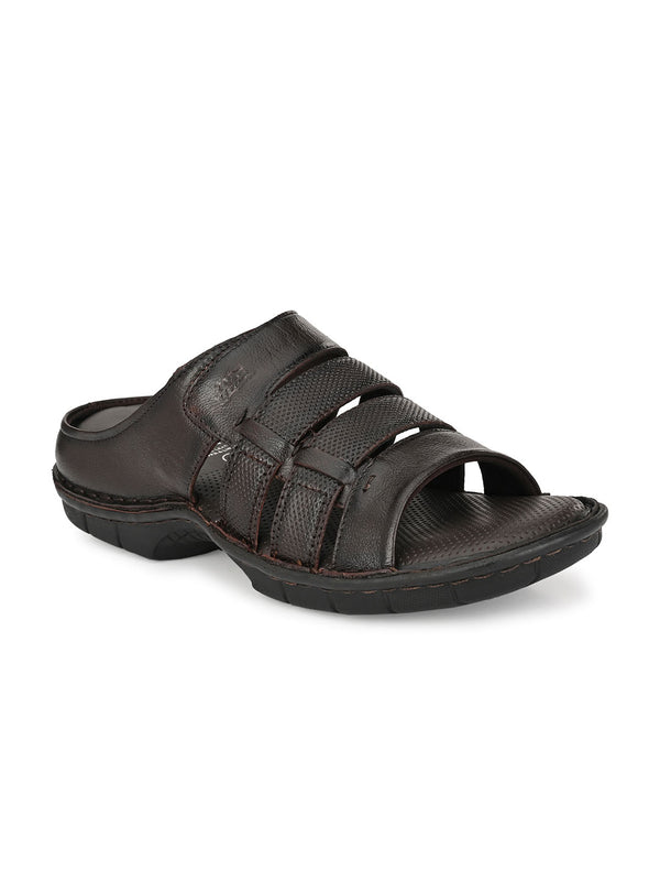 HITZ Gavril Brown Sandals For Men