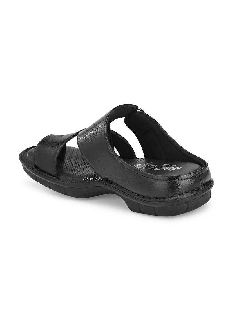 Hitz Romeo Black Sandals For Men