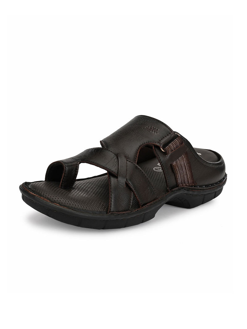 Hitz Romeo Brown Sandals For Men