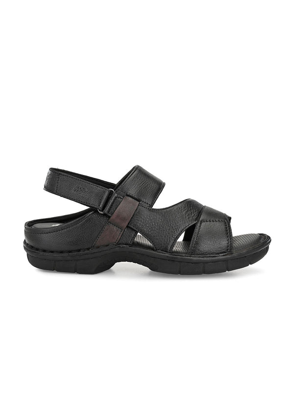 Hitz Marco Black+Brown Sandals For Men