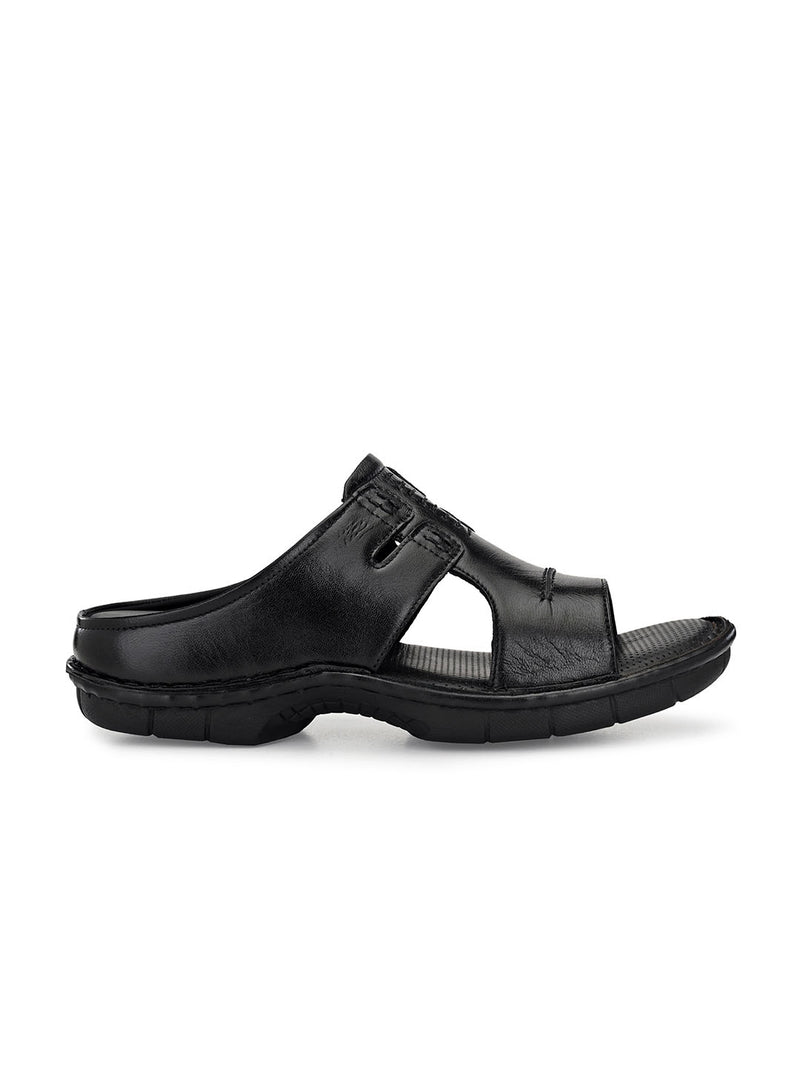 Hitz Gianni Black Sandals For Men