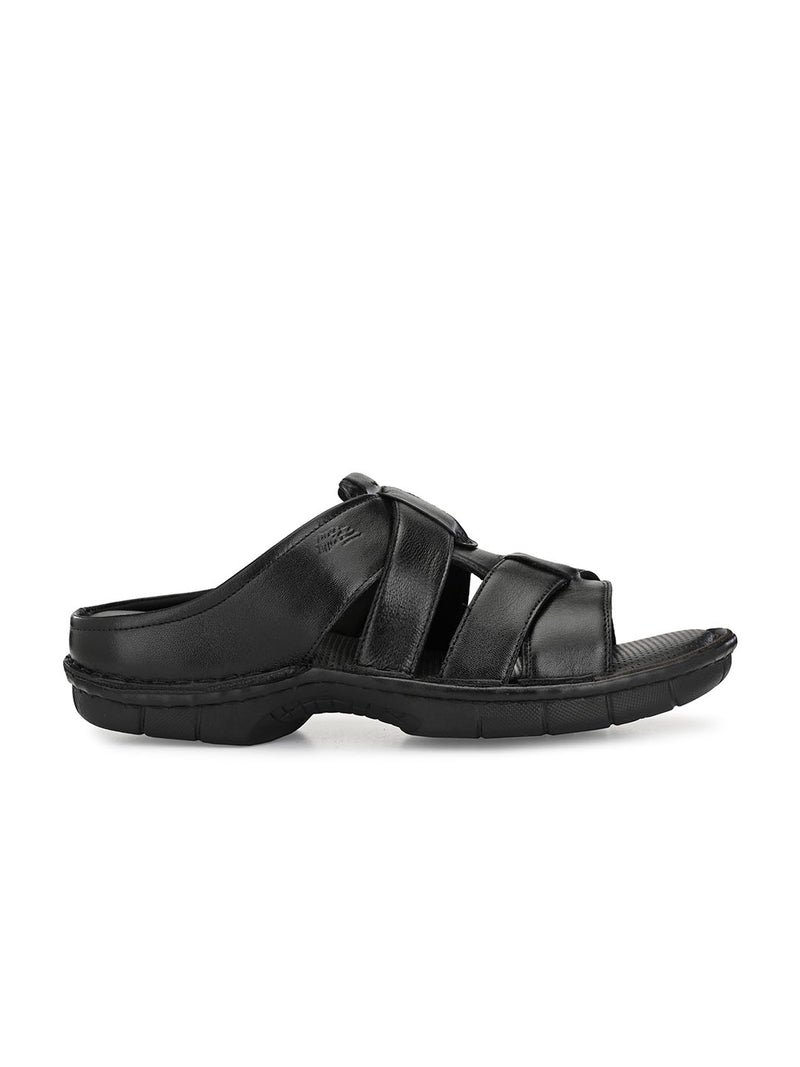 Hitz Roberto Black Sandals For Men