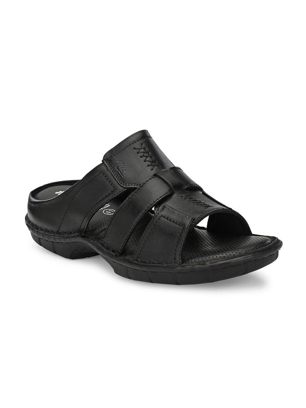 Hitz Alonzo Black Sandals For Men