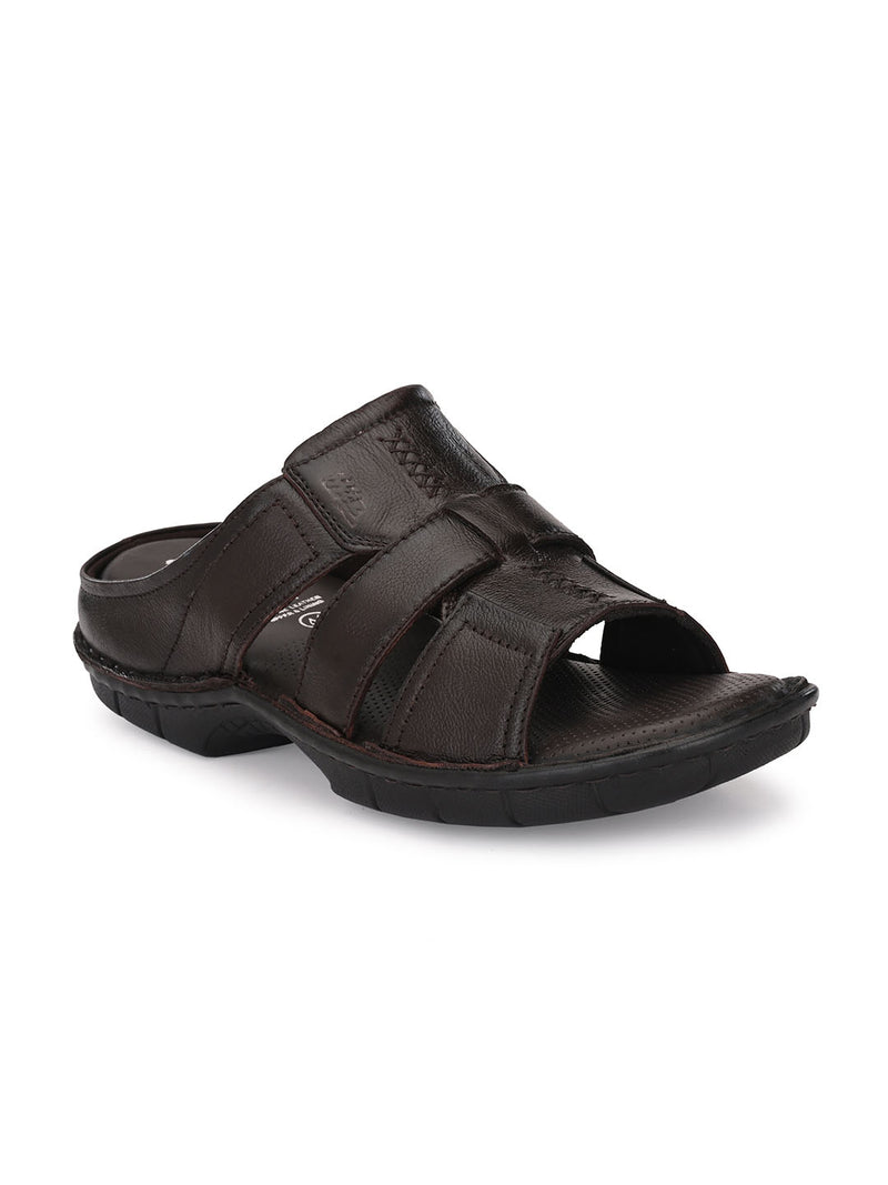 Hitz Alonzo Brown Sandals For Men
